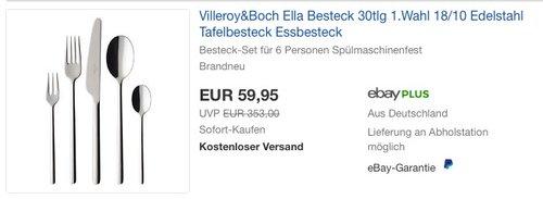 Villeroy&Boch Ella Besteck 30tlg - jetzt 25% billiger