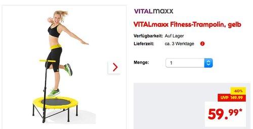 VITALmaxx Fitness-Trampolin gelb - jetzt 25% billiger