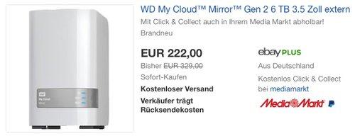 WD My Cloud™ Mirror™ Gen 2 6 TB - jetzt 31% billiger