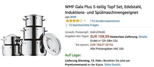 WMF Gala Plus 5-teilig Topf Set - jetzt 44% billiger