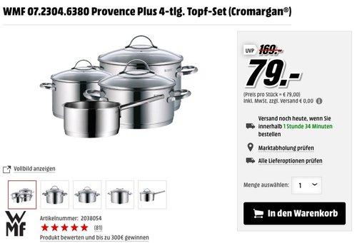 WMF Topf-Set Provence Plus 4-teilig - jetzt 11% billiger