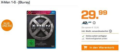 X-Men 1-6 Boxset (Blu-ray) - jetzt 6% billiger
