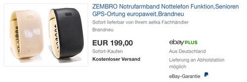 ZEMBRO Notrufarmband - jetzt 33% billiger
