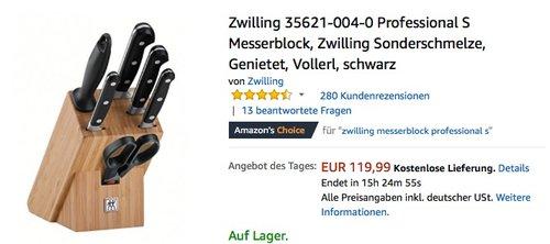 Zwilling 35621-004-0 Professional S Messerblock - jetzt 17% billiger