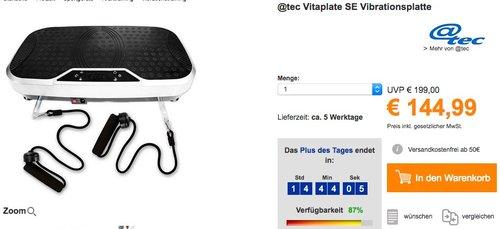 @tec Vitaplate SE Vibrationsplatte - jetzt 5% billiger