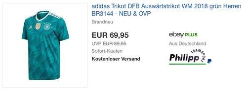 adidas DFB Away Deutschland Auswärtstrikot WM 2018 - jetzt 9% billiger