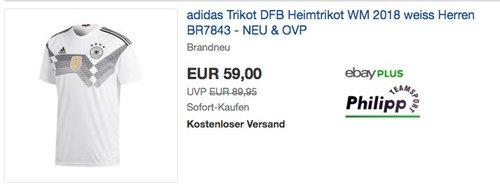 adidas Trikot DFB Heimtrikot WM 2018 weiss Herren BR7843 - NEU & OVP - jetzt 3% billiger