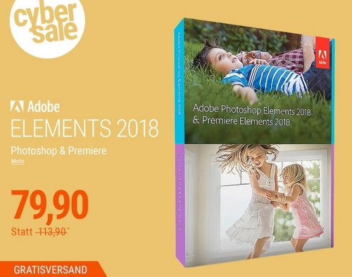 Adobe Photoshop Elements & Premiere Elements 2018 - jetzt 4% billiger