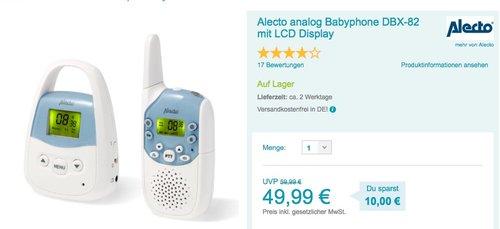 Alecto analog Babyphone DBX-82 - jetzt 23% billiger