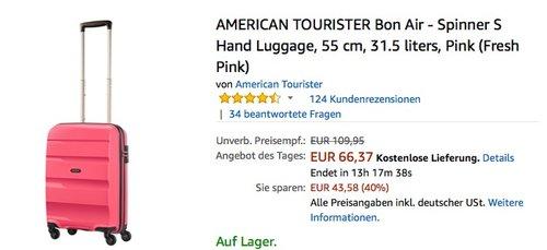 AMERICAN TOURISTER Bon Air - Spinner S Hand Luggage pink - jetzt 22% billiger