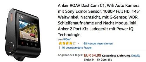 Anker ROAV DashCam C1 Full HD - jetzt 19% billiger