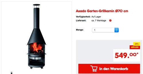 Asado Garten-Grillkamin Ø70 cm - jetzt 16% billiger
