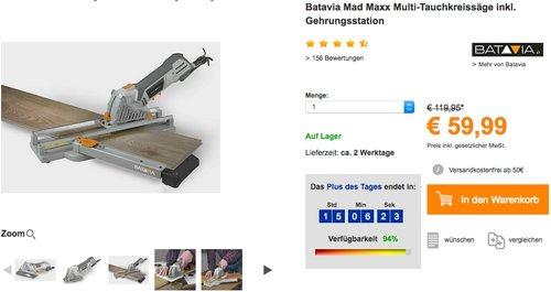 Batavia Mad Maxx Multi-Tauchkreissäge - jetzt 25% billiger