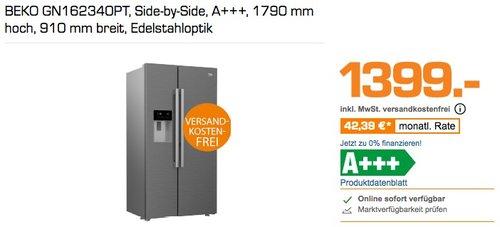 BEKO GN162340PT Side-by-Side Kühlkombination, A+++, 1790 mm hoch, 910 mm breit, Edelstahloptik - jetzt 9% billiger