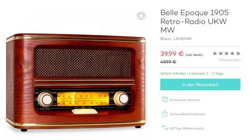 Belle Epoque 1905 Retro-Radio UKW MW - jetzt 20% billiger