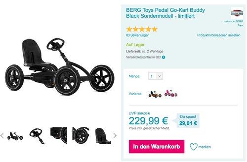 Berg Buddy Black Edition - Gokart - Sondermodell limitiert - jetzt 7% billiger