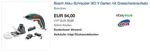 Bosch Akkuschrauber IXO Set (Gras- und Strauchscherenaufsatz) - jetzt 11% billiger