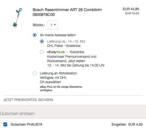 Bosch ART 26 Combitrim Rasentrimmer - jetzt 29% billiger