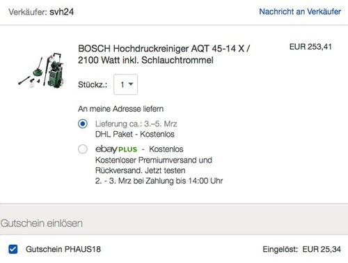 BOSCH Hochdruckreiniger AQT 45-14 X - jetzt 10% billiger