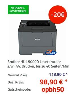 Brother HL-L5000D Laserdrucker s/w - jetzt 17% billiger