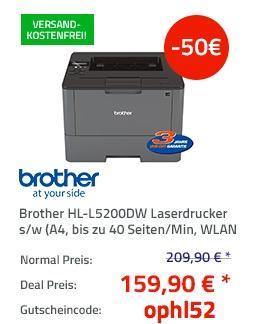 Brother HL-L5200DW Laserdrucker - jetzt 24% billiger