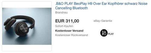 B&O PLAY BeoPlay H9 Over Ear Kopfhörer schwarz - jetzt 31% billiger