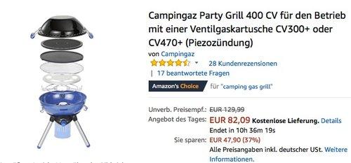 Campingaz Party Grill 400 CV - jetzt 11% billiger