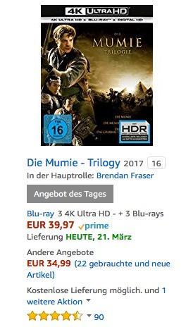 Die Mumie - Trilogy (3 4K Ultra HD) - jetzt 26% billiger