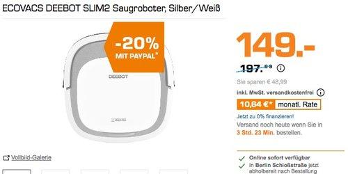 ECOVACS DEEBOT SLIM2 Saugroboter, Silber/Weiß - jetzt 20% billiger