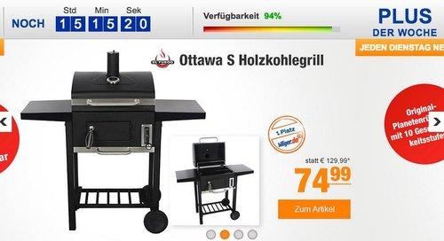 El Fuego Ottawa S Holzkohlegrill, Grillfläche 45 x 32 cm - jetzt 14% billiger