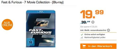 Fast & Furious - 7 Movie Collection - (Blu-ray) - jetzt 44% billiger