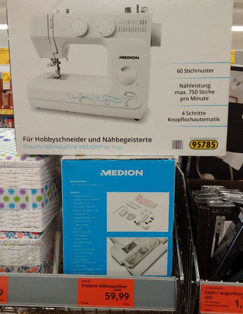 Freiarm-Nähmaschine Medion MD 17329 - jetzt 25% billiger