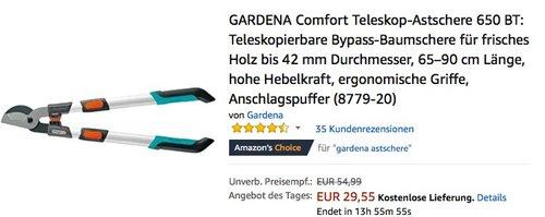 GARDENA Comfort Teleskop-Astschere 650 BT - jetzt 40% billiger