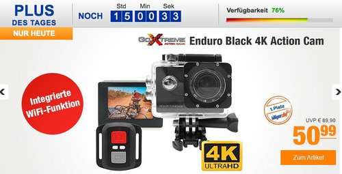 GoXtreme ENDURO BLACK 4K Action Cam - jetzt 15% billiger