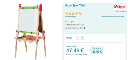 Hape Spiel-Tafel - jetzt 9% billiger