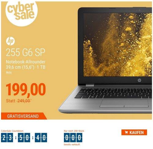HP 255 G6 SP 2UB86ES Notebook E2-9000e HD matt ohne Windows - jetzt 20% billiger