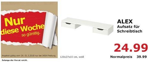 IKEA ALEX Aufsatz für Schreibtisch - jetzt 38% billiger