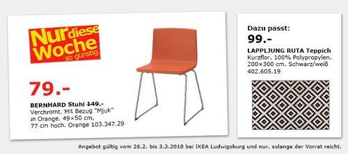 IKEA BERNHARD Stuhl - jetzt 47% billiger