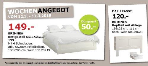 IKEA BRIMNES Bettgestell - jetzt 25% billiger