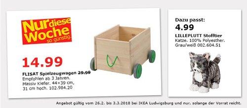 IKEA FLISAT Spielzeugwagen - jetzt 50% billiger