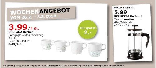 IKEA FÖRLAGA Becher 4 St. - jetzt 33% billiger