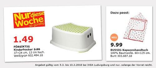 IKEA FÖRSIKTIG Kinderhocker - jetzt 50% billiger