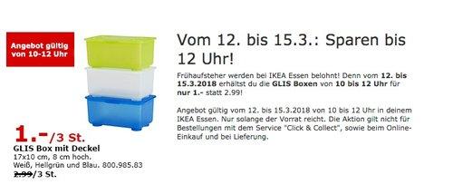 IKEA GLIS Box mit Deckel 3 Stück - jetzt 67% billiger