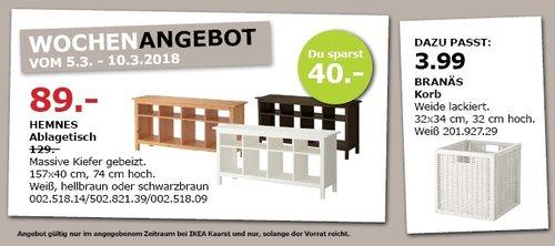 IKEA HEMNES Ablagetisch - jetzt 31% billiger
