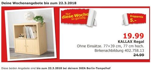 IKEA KALLAX Regal, Birkenachbildung für 19,99€ - jetzt 20% billiger