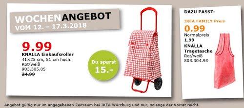 IKEA KNALLA Einkaufsroller - jetzt 60% billiger
