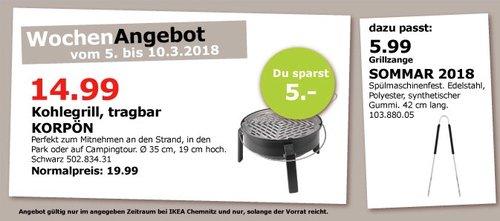 IKEA KOPRÖN Kohlegrill - jetzt 25% billiger