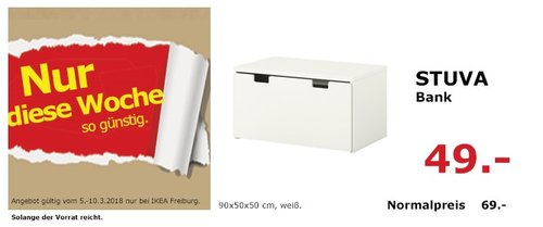 IKEA STUVA Bank - jetzt 29% billiger