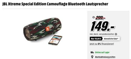 JBL Xtreme Special Edition Camouflage Bluetooth-Lautsprecher - jetzt 40% billiger