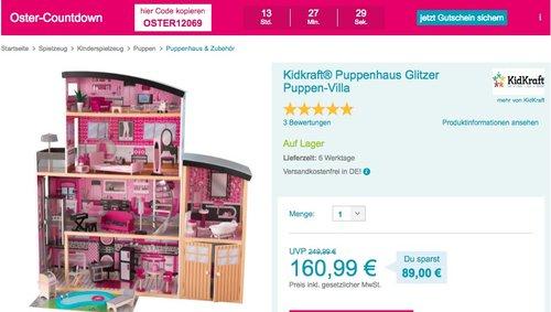 Kidkraft® Puppenhaus Glitzer Puppen-Villa - jetzt 20% billiger